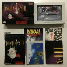 Final Fantasy III Super Nintendo SNES CIB 100% Complete Near Mint