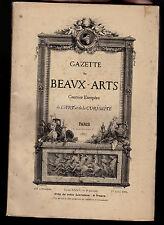 Gazette des Beaux -Arts-Avril 1887-Eau-forte M.H.Guérard-Architecture Angleterre