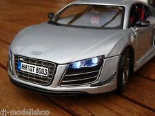 AUDI R8 GT MIT LED BELEUCHTUNG ( XENON ) 1:18,IN GRAU VON MAISTO TUNING