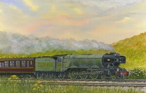 Flying Scotsman - A Yorkshire Legend - Ltd Ed Print - Trains
