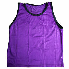 NEW SCRIMMAGE PRACTICE VESTS PINNIES SOCCER YOUTH PURPLE