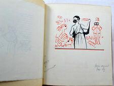 SOULAGES Graffitis d'amour MORNAY Japon 2 dessins originaux Demi-maroquin 1931