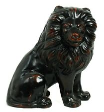 Ceramic Vernissage Hand Painted Fitz & Floyd Japan Black Red Lion Statue