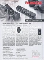 Prospekt D Minox Aviator Set Kamera Armbanduhr 2006 brochure camera wrist watch