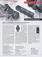 1 Minox Prospekt 2006 D Set Kamera Armbanduhr brochure camera wrist watch