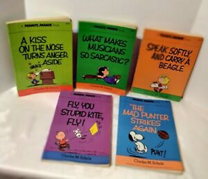 Vintage Peanuts Parade Books Charles M Schulz Lot Of 5