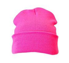 Beanie Hat Pink Woolly Ski Winter