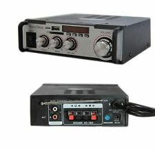 AMPLIFICATORE AUDIO STEREO USB SD MP3 FM KARAOKE 004A 12V 220V