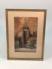 ORIGINAL WATERCOLOR LISTED ARTIST NOEL HARRY  LEAVER