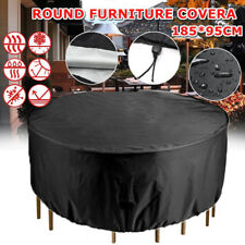 Large Waterproof Round Patio Table Cover Garden Yard Outdoor Furniture Shelter