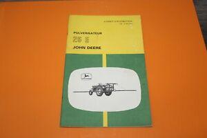 (153) JOHN DEERE Pulvérisateur 25 E  Livret d'entretien