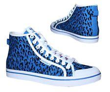 Adidas Honey Mid W Damen Hi Sneakers Schuhe Canvas Blau Schwarz Weiß Gr. 37 1/3