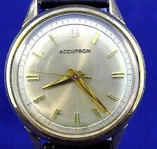 Bulova Accutron 214 10k GF/SS with sparkling clean dial and hands and new strap