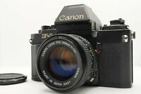 [Near MINT] Canon NEW F-1 SLR Body AE Finder + NFD FD 50mm f/1.4 Lens From Japan
