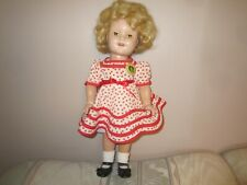 "vintage 19"" compo shirley temple doll"