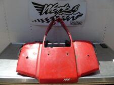 B40 HONDA 1984 TRX200 TRX 200 FRONT FENDER RED PLASTIC W/ MUD FLAPS 84