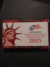 2005 US MINT SILVER PROOF SET - Complete w/ Original Box and COA