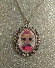 Silver Charm Necklace Pendant LOL L.O.L Doll Sis Swing