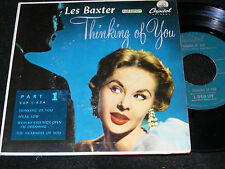LES BAXTER 7 inch EP Mood BACHELOR PAD THINKING OF YOU Part Odd Cover Photo ORIG