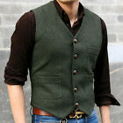Mens 80% Wool Formal Waistcoat Vest gentleman Winter Warm Classic Suit Vest