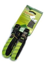 """ADJUSTABLE BACKPACKER, TRAVELING ROK STRAPS, 12"""" to 42"""" LUGGAGE BUNGEE TWIN PACK"""