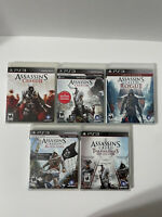 PlayStation PS3 Assassin's Creed Lot 5 Games Sony Ubisoft