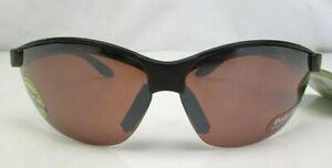 FG Solar Comfort Polarized Sunglasses 6V5109SE Black Frame Brown Lens, New