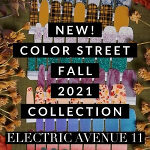 🍁NEW FALL COLLECTION COLOR STREET NAIL POLISH STRIPS SET 2021 WINTER glitter