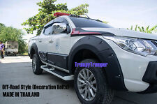 K OFF-ROAD FENDER FLARE WHEEL ARCH For Mitsubishi Triton MQ Fiat Fullback 15-17