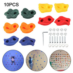 10x Kids Climbing Stones Rocks Outdoor Climbing Point Wall Hold Grab Grip