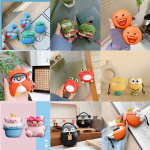 Cute 3D Cartoon AirPods Soft Silicone Case Protective Cover For AirPod 1 2 3 Pro