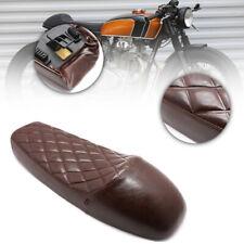Universal PU Leather Vintage Hump Custom Cafe Racer Seat Saddle Brown For Honda