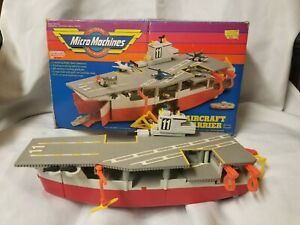 VINTAGE MICRO MACHINES AIRCRAFT CARRIER WITH BOX Free Shipp