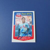 TIM RAINES 1988 TOPPS RITE AID MVP  Signed Montreal Expos AUTO New York Yankees