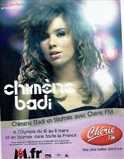Publicité Advertising 029  2006    concert Chimène Badi & radio Chérie FM