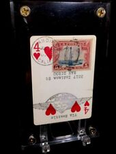 Don Mark Lemon Aero Transported Playing Cards Aviation Stamped For Secondary Use