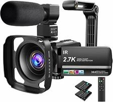 Video Camera Camcorder 2.7K Ultra HD YouTube Vlogging 36MP IR Night...
