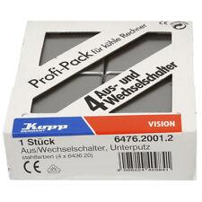 Kopp Profi-Pack 4 Universalschalter Vision Ausschalter Schalter stahl silber neu
