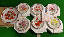 Full Set of 7 In Flanders Fields Poppy Plates inc. Finale by M Stevens Boxed COA