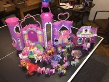 VINTAGE RARE MY LITTLE PONY CELEBRATION CASTLE & COTTON CANDY CAFE &18 PONIES +