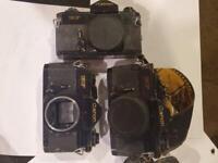 Vintage 1980's Canon EF Body Slide Film Camera Lot 3