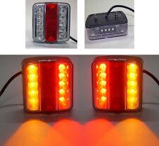 2 x 12V 14 LED FEUX LAMPES ARRIERES CAMION REMORQUE FOURGON CARAVANE CAMPER ECE