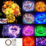 LED String Copper Wire Fairy Lights Battery Operated Xmas Party Fairy Decor Lamp