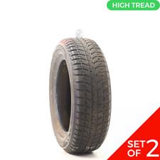 Set Of 2 Used 20560r16 Bridgestone Blizzak Ws70 Studless 92t 8532 Fits 20560r16