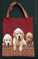 Einkaufstasche Jutetasche Jutebeutel Tragetasche Gobelin Tasche Stofftasche Hund