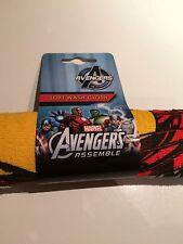 BNWT New Marvel Avengers Assemble Soft Washcloth Facecloth Flannel Iron Man Hulk
