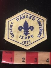 Vintage 1971 ISPPE QUEBEC RANGER CONFERENCES GIRL GUIDES SCOUTS Canada Patch 876