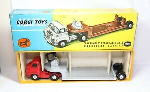 Corgi 1104 Carrimore Detachable Axle Machinery Carrier In Its Original Box