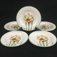 "Set of 5 VTG Bread Plates 6 1/4"" by St. Andrews Doulton Co. Abstract Floral"