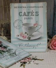 "~ ""Cafes Paris"" ~ Shabby Chic ~ French Country Cottage style ~ Wall Decor Sign ~"